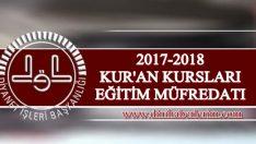 2017-2018 Yılı Eğitim Dönemi Ders Müfredatı