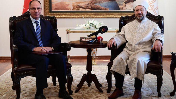 Diyanet İşleri Başkanı Erbaş, Filistin Büyükelçisi Mustafa'yı kabul etti…