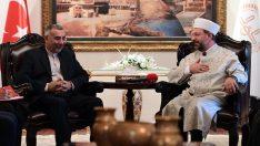 Diyanet İşleri Başkanı Erbaş, İran Ankara Büyükelçisi Taherian Fard'ı kabul etti