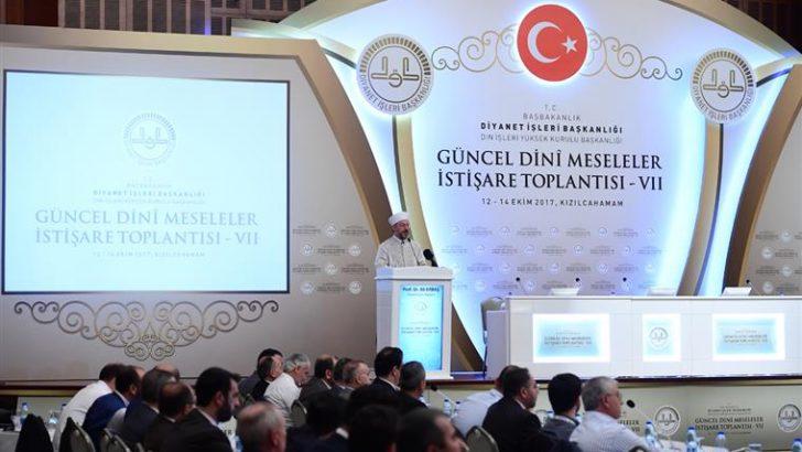 Diyanet İşleri Başkanı Erbaş, 'Vll. Güncel Dini Meseleler İstişare Toplantısı'nın açılış programına katıldı…