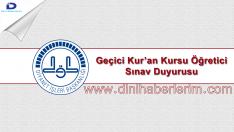 2018 DHBT Kur'an Kursu Öğreticisi Sınav İlanı Daha Yayınlandı !