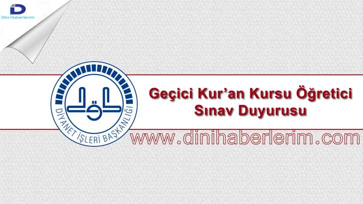 2035 Adet Fahri Kuran Kursu Öğreticisi Alınacak !