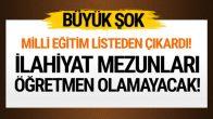 İlahiyat Fakültesi Mezunları MEB listesinden çıkarıldı!