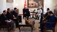 Diyanet İşleri Başkanı Erbaş, Kosova İslam Birliği Başkanı Terneva'yı kabul etti