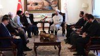 Diyanet İşleri Başkanı Erbaş, Pakistan Din İşleri ve İnançlararası Uyum Bakan Vekili'ni kabul etti