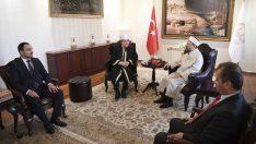 Diyanet İşleri Başkanı Erbaş, Polonya Müslümanları Dini İdare Başkanı Miskeviç'i kabul etti