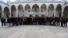 İstanbul Müftüsü Yılmaz, UİP öğrencileriyle Süleymaniye'de sabah namazında buluştu
