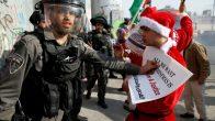 İsrail askerlerinden Filisintinli 'Noel Baba'ya plastik mermi ve gaz!