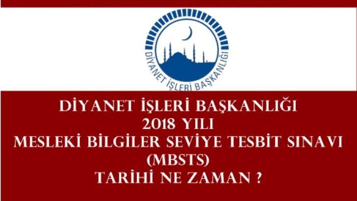 2018 Yılında Mesleki Bilgiler Seviye Tesbit Sınavı (MBSTS) olacak mı ?