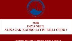 2018 Yılında Diyanet'e Alınacak Kadro Sayısı Belli Oldu !