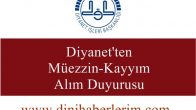 Diyanet'ten Müezzin-Kayyım Alım Duyurusu