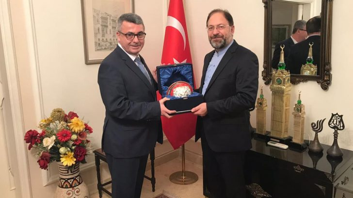 Diyanet İşleri Başkanı Erbaş, İİT Nezdinde Türkiye Daimi Büyükelçisi Şen'i ziyaret etti