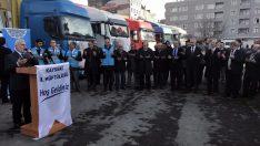 Kayseri'den Suriye'ye 11 Tır Un Dualarla Yolcu Edildi