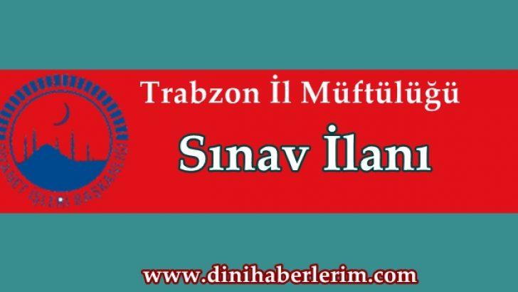 Trabzon Müftülüğü Münhal Kadro İlanı !