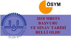 2018 Yılı MBSTS Başvuru ve Sınav Tarihi Belli Oldu