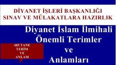 Diyanet İslam İlmihali Önemli Terimler ve Anlamları