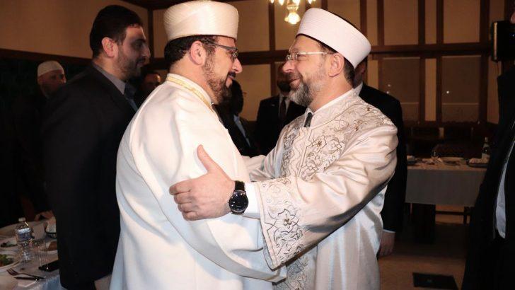 Diyanet İşleri Başkanı Erbaş, Amerikalı Müslüman kanaat önderleri ile bir araya geldi