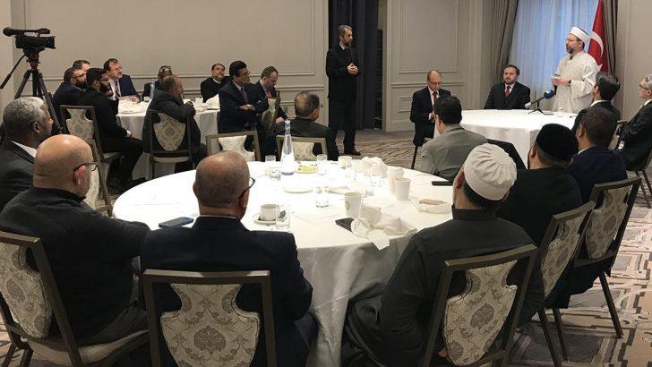 Diyanet İşleri Başkanı Erbaş, New York'ta Müslüman STK temsilcileri ile bir araya geldi