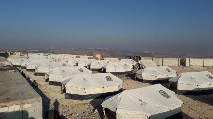 Türkiye Diyanet Vakfı, Hama'dan gelen aileler için 1.000 çadır kurdu