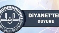 Flaş! Diyanet'ten 2018 Yılı Sözleşmeli Personel Alımı (SÖZPER 2018-II) Yer ve Tarih Duyurusu