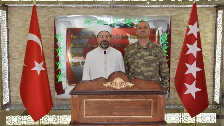 Diyanet İşleri Başkanı Erbaş, Hatay'da Harekat Merkezi'ni ziyaret etti