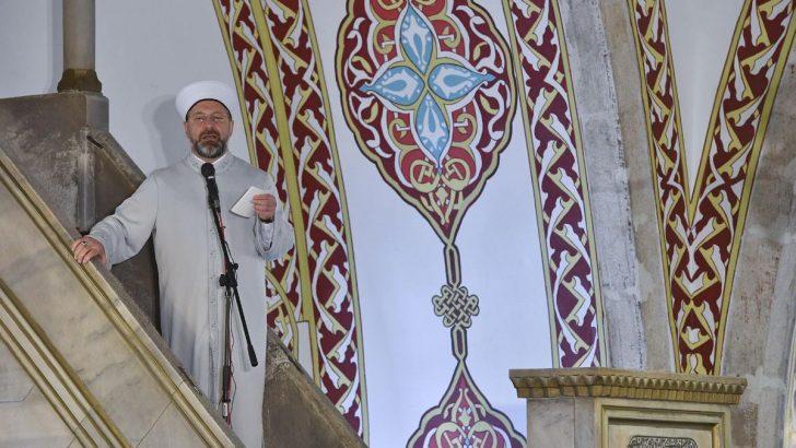 Diyanet İşleri Başkanı Erbaş'tan Hatay Habib-i  Neccar Camii'nde Cuma Hutbesi