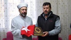 Diyanet İşleri Başkanı Erbaş'tan şehit Fatma Avlar'ın ailesine taziye