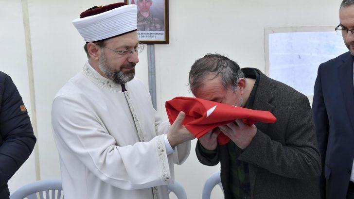 Erbaş'tan Şehit Sergen Pamukçu'nun ailesine hac müjdesi