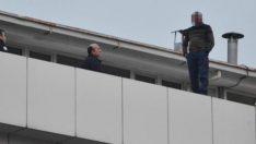 İmam intihar için çatıya çıktı!