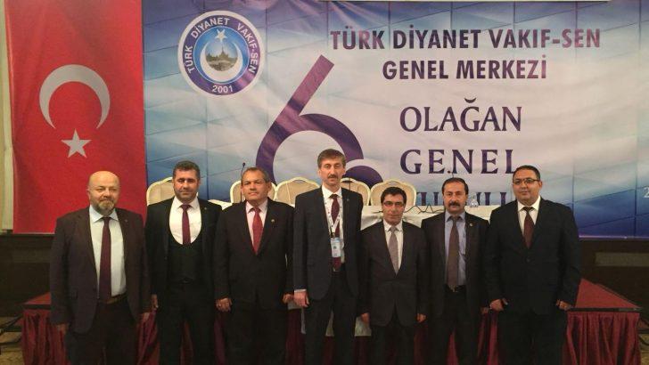 Türk Diyanet Vakıf-Sen'de Yeni Genel Başkanı Nuri Ünal Seçildi.