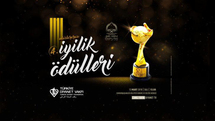 4. Uluslararası İyilik Ödülleri 13 Mart'ta sahiplerini bulacak