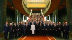 Cumhurbaşkanı Recep Tayyip Erdoğan, il müftülerini kabul etti