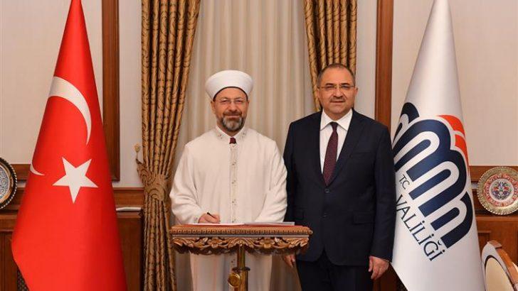 Diyanet İşleri Başkanı Erbaş, Malatya Valiliğini ziyaret etti