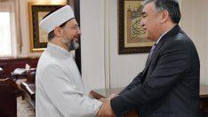 Erbaş, Özbekistan Ankara Büyükelçisi Agzamhocaev'i kabul etti