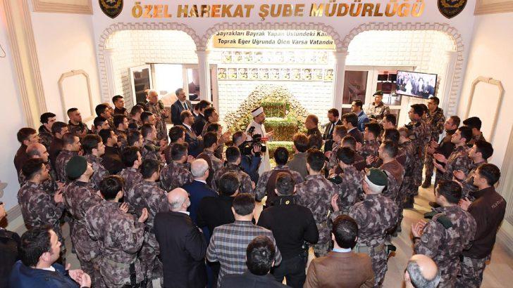 Diyanet İşleri Başkanı Erbaş,  PÖH Şube Müdürlüğünü ziyaret etti