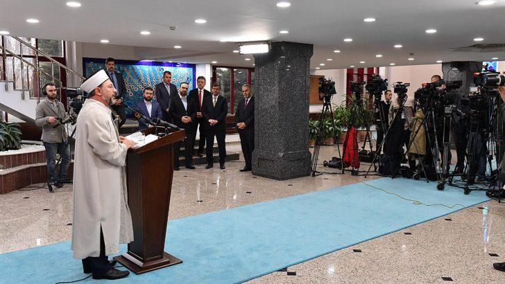 Diyanet İşleri Başkanı Erbaş'tan gündemdeki dini konularla ilgili açıklama