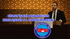 Bağımsız Diyanet Sen'den Diyanet'in 94. kuruluş yıldönümünü mesajı