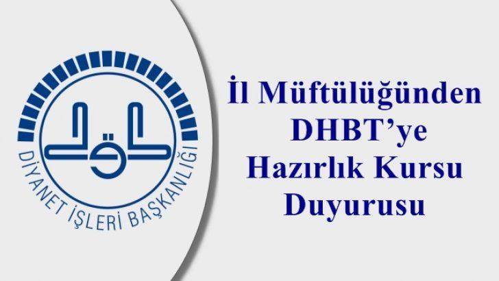 İl Müftülüğünden DHBT'ye Hazırlık Kursu Duyurusu