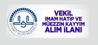 Vekil İmam-Hatip ve Müezzin-Kayyım Sınav İlanı !