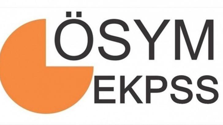 2018-EKPSS Sınava Giriş Belgeleri Açıklandı
