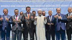 Denizli Dini Yüksek İhtisas Merkezi ve Nihat Zeybekci Uygulama Camisi'nin temeli dualarla atıldı.