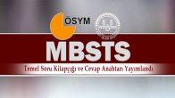 2018-DİB-MBSTS Temel Soru Kitapçığı ve Cevap Anahtarı Yayımlandı
