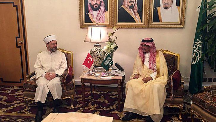 Erbaş, Suudi Arabistan Hac ve Umre Bakanını ziyaret etti