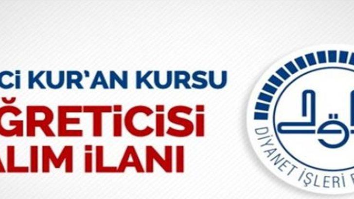 2018 DHBT İle Geçici Kur'an Kursu Öğreticisi Alımı İlanı !