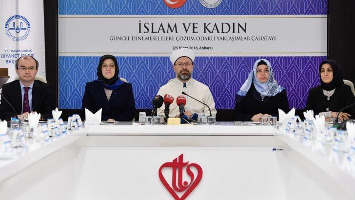 """Erbaş, """"İslam ve Kadın"""" çalıştayının açılışına katıldı"""