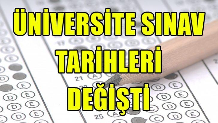 2018 Üniversite Sınav Tarihleri Değişti