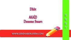 Dhbt Akaid Deneme Sınavı