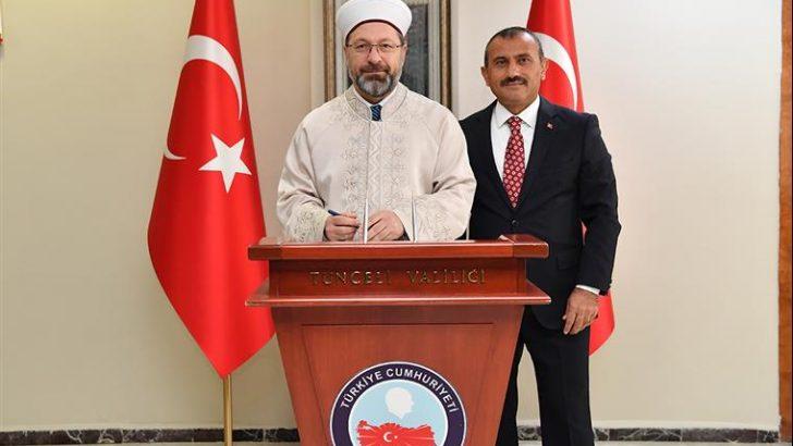 Diyanet İşleri Başkanı Erbaş Tunceli'de