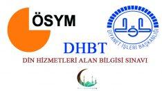 DHBT Sınavı Konularına Göre Soru Dağılımı