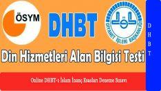 Online DHBT-1 İslam İnanç Esasları Deneme Sınavı